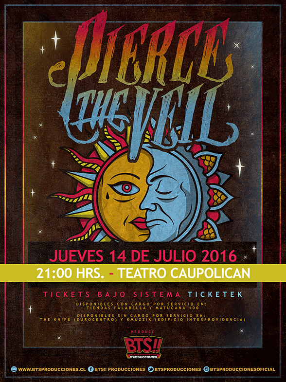 AFICHE PIERCE THE VEIL 2016