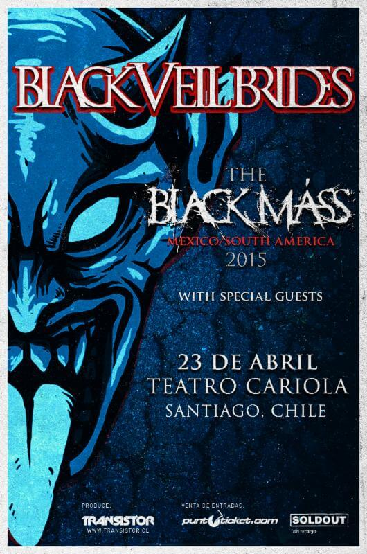 BLACK VEIL BRIDES CHILE 2015