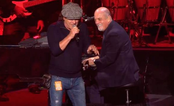 "Brian Johnson de AC/DC tocó ""You Shook Me All Night Long"" con Billy Joel"