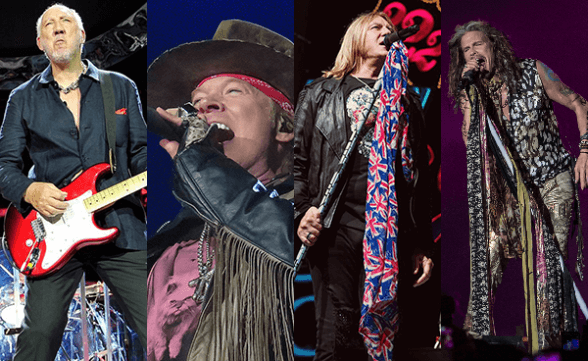 Confirman evento con The Who, Def Leppard, Guns N' Roses y Aerosmith en Chile
