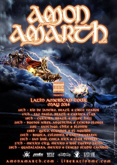 134 AMON AMARTH Latin American Tour
