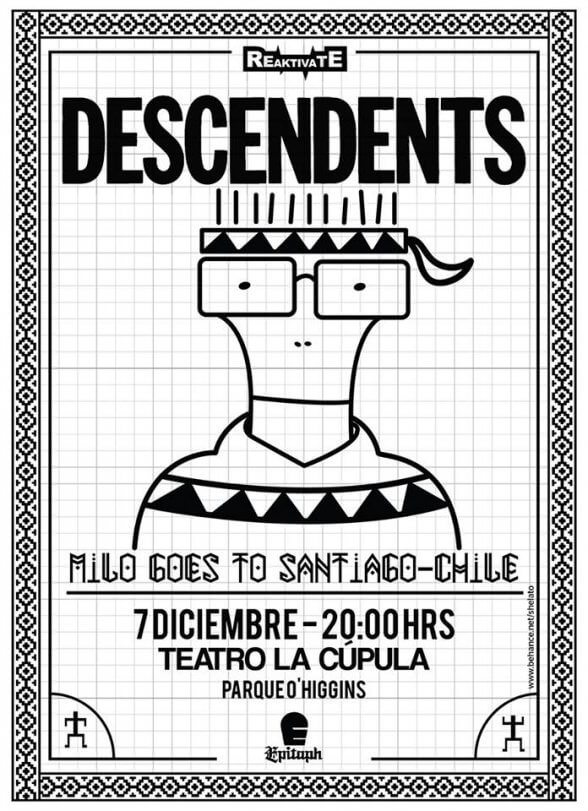 AFICHE DESCENDENTS EN CHILE