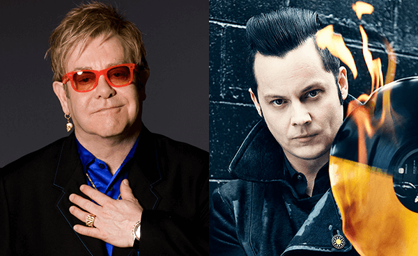 "Jack White y Elton John se unen para lanzar una canción: ""Two Fingers Of Whiskey"""