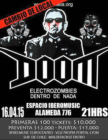 POSTER DOOM CHILE