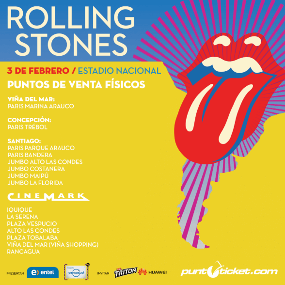 VENTA THE ROLLING STONES CHILE